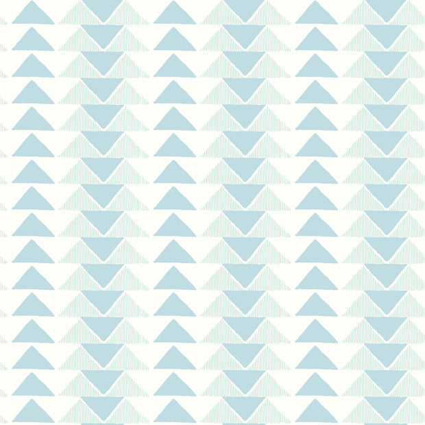 Geo Triangles Wallpaper - Blue