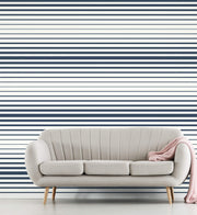 Stripe Wallpaper - Blue/White