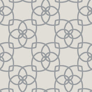 Serendipity Wallpaper - Gray/Metallic Silver