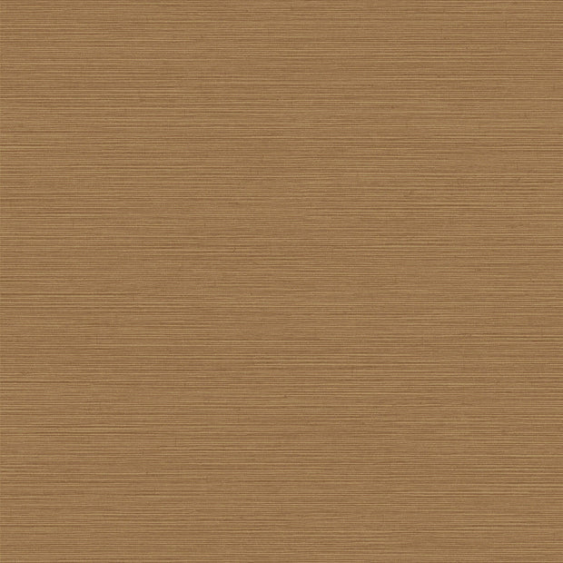 Shining Sisal Faux Grasscloth Wallpaper - Metallic Brown/Gold