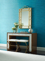 Shining Sisal Faux Grasscloth Wallpaper - Metallic Teal