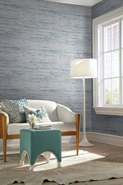 Lustrous Grasscloth Wallpaper - Blue/Gray