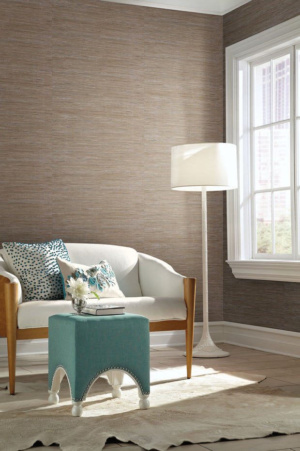 Y6201604 Dazzling Dimensions Lustrous Taupe Grasscloth Wallpaper Us Wall Decor