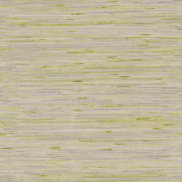 Lustrous Grasscloth Wallpaper - Silver/Green