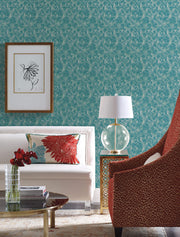 Y6230105 Feathers Wallpaper by Antonina Vella Teal Green