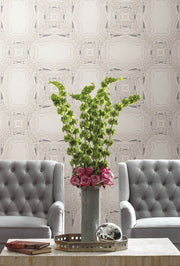 Y6230601 Stone Kaleidoscope Wallpaper Antonina Vella Grey Black