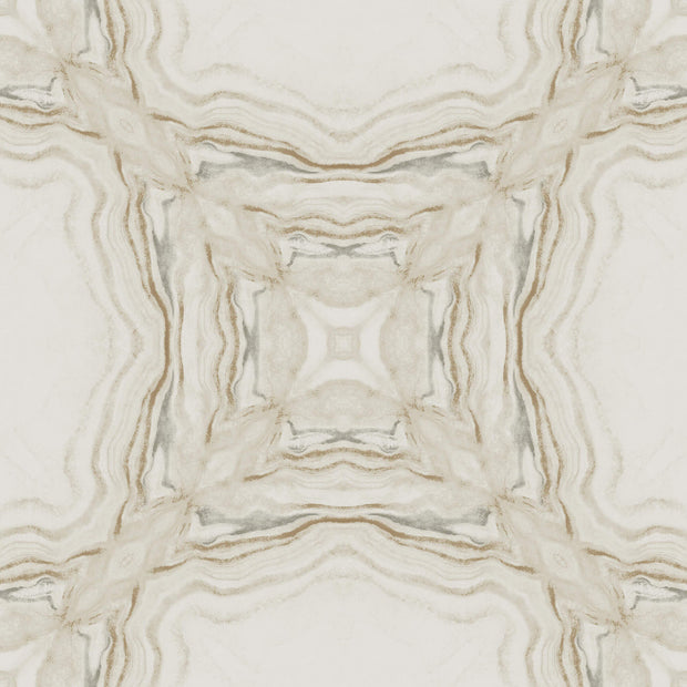 Y6230603 Stone Kaleidoscope Wallpaper Antonina Vella Cream Charcoal