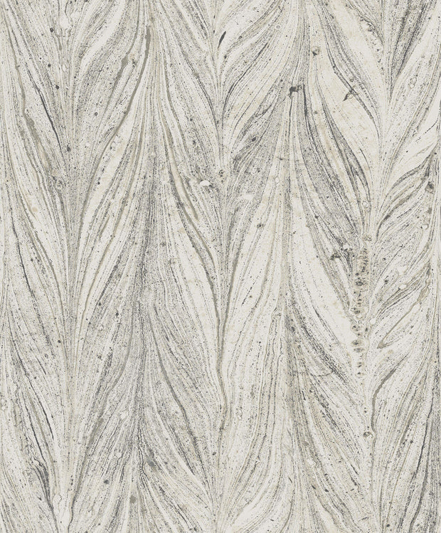 Y6230802 Ebru Marble Cool Grey Wallpaper by Antonina Vella