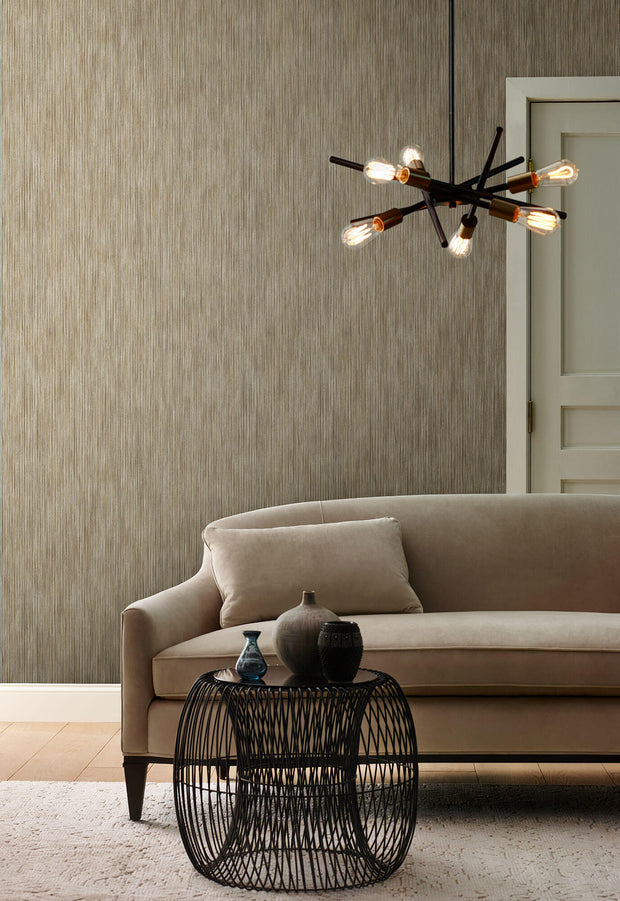 Y6231003 Opalescent Stria Wallpaper by Antonina Vella Mink Brown