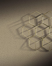 Y6231102 Stretched Hexagons Wallpaper Antonina Vella Sand