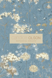 Candice Olson Pressed Leaves Wallpaper - Silver