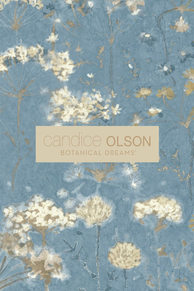 Candice Olson Water Lily Wallpaper - Blue