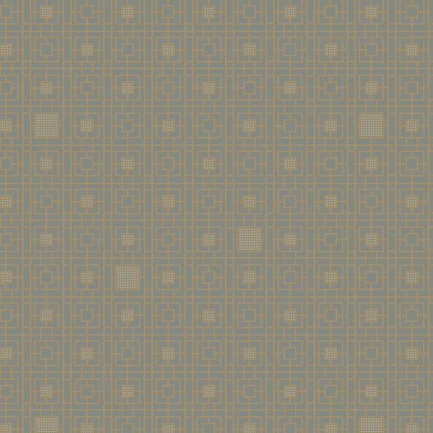 Antonina Vella Deco Screen Wallpaper - Dark Gray