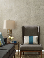 DL2963 Candice Olson Cork Wallpaper Warm Silver