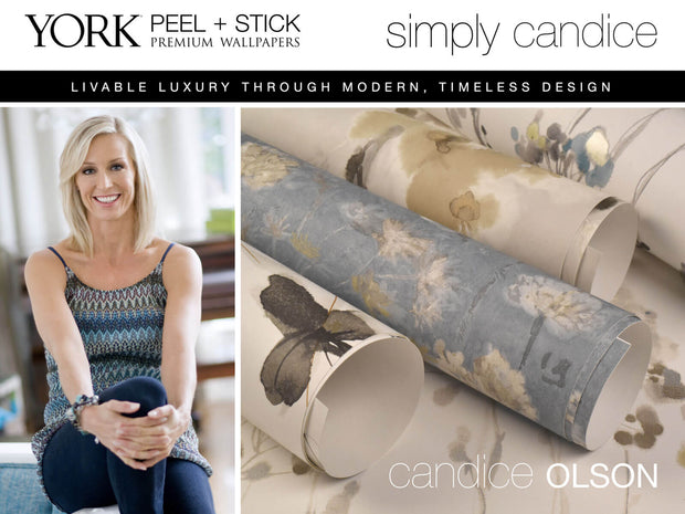 Simply Candice Flourish Peel and Stick Wallpaper - Turquoise