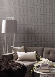 DL2968 Candice Olson Quad Wallpaper Gray Charcoal