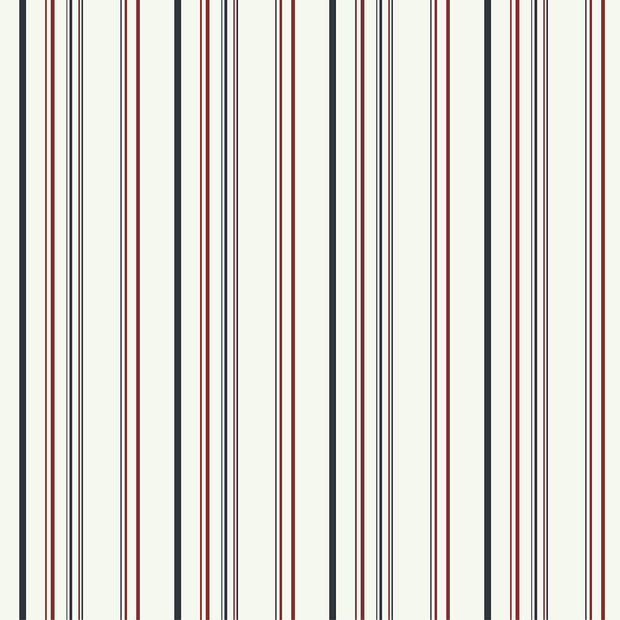 Disney Kids Wide Multi Stripe Wallpaper Red Black White
