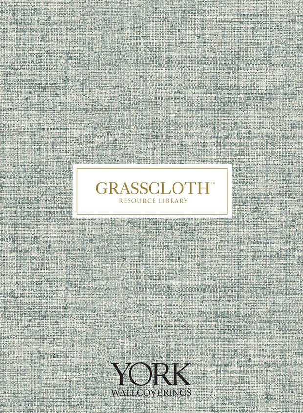 Grasscloth Resource Library Lustrous Grasscloth Wallpaper - Blue