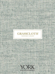 Grasscloth Resource Library Sedge Wallpaper - Charcoal