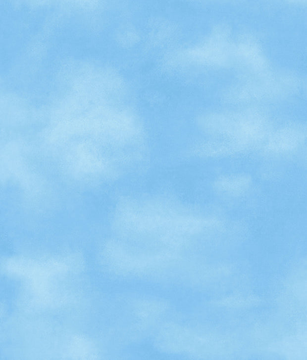 Kids Blue Sky with Clouds Wallpaper