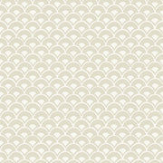 MK1158 Magnolia Home Stacked Scallops Wallpaper Beige