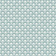 MK1157 Magnolia Home Stacked Scallops Wallpaper Nautilus Blue