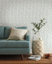 MK1138 Magnolia Home Willow Wallpaper Mariner Blue