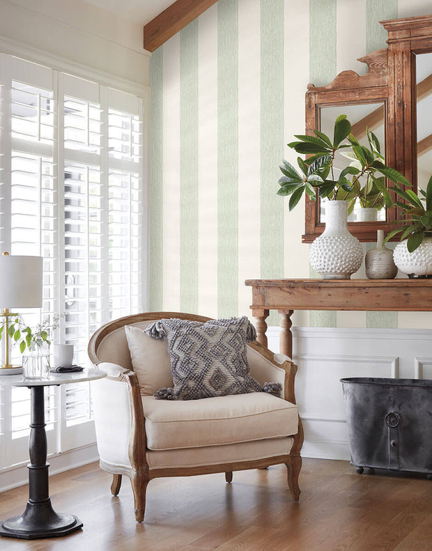 MK1116 Magnolia Home Thread Stripe Wallpaper Green