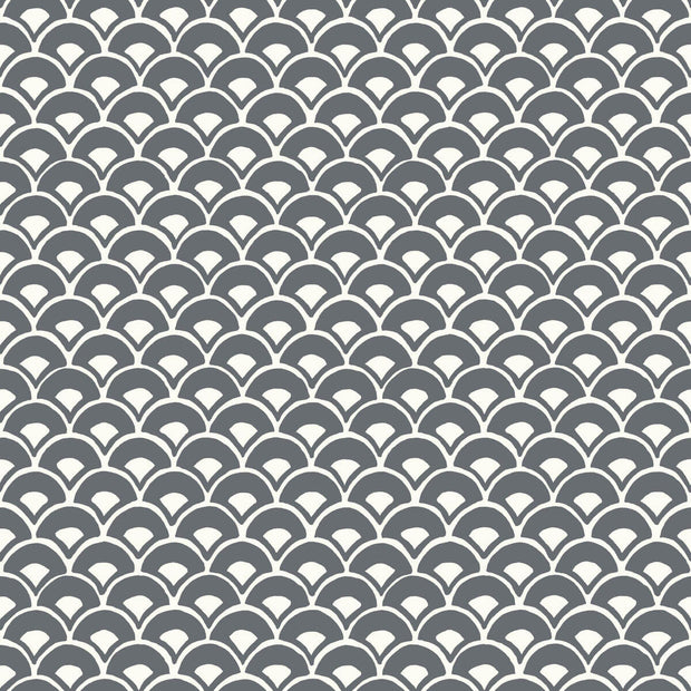 MK1150 Magnolia Home Stacked Scallops Wallpaper Grey