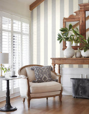 MK1119 Magnolia Home Thread Stripe Wallpaper Navy