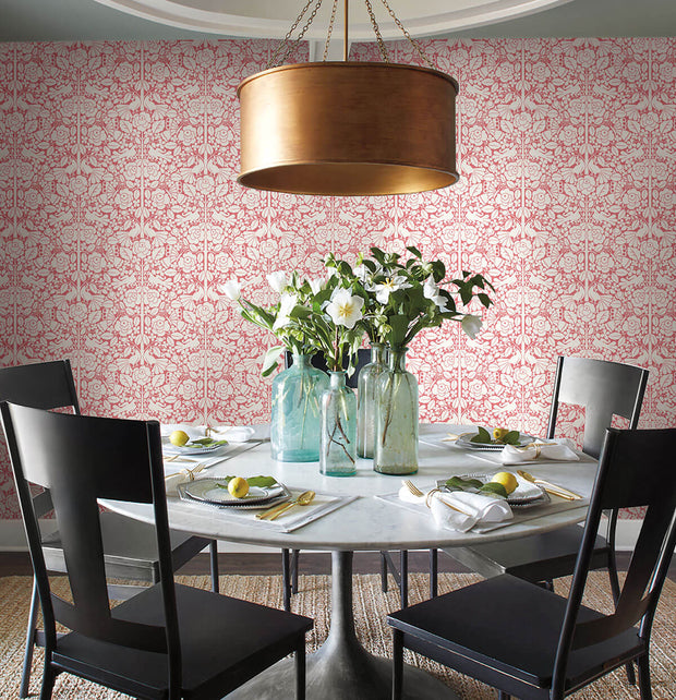 MK1165 Magnolia Home Fairy Tales Wallpaper Pink Coral