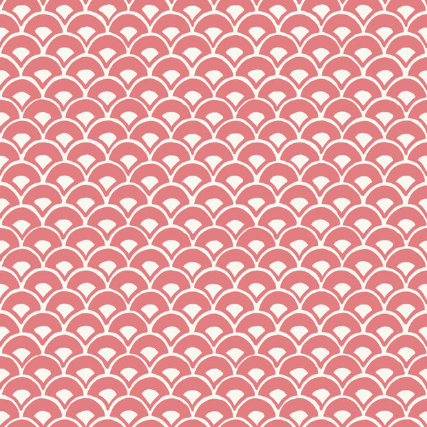 MK1155 Magnolia Home Stacked Scallops Wallpaper Pink Coral