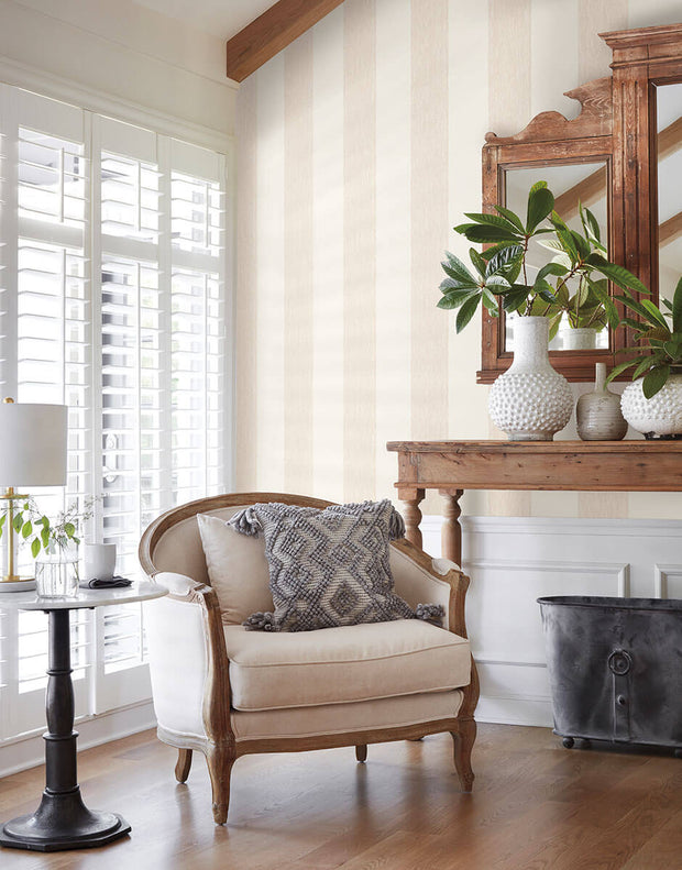 MK1115 Magnolia Home Thread Stripe Wallpaper Pink
