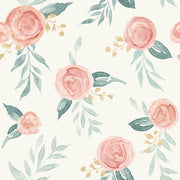 MK1126 Magnolia Home Watercolor Roses Wallpaper Red