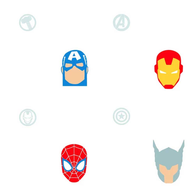 Marvel Avengers Character Heads Peel & Stick Wallpaper - SAMPLE
