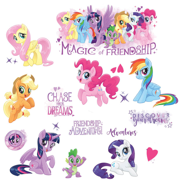 My Little Pony Peel and Stick Wall Decals with Glitter