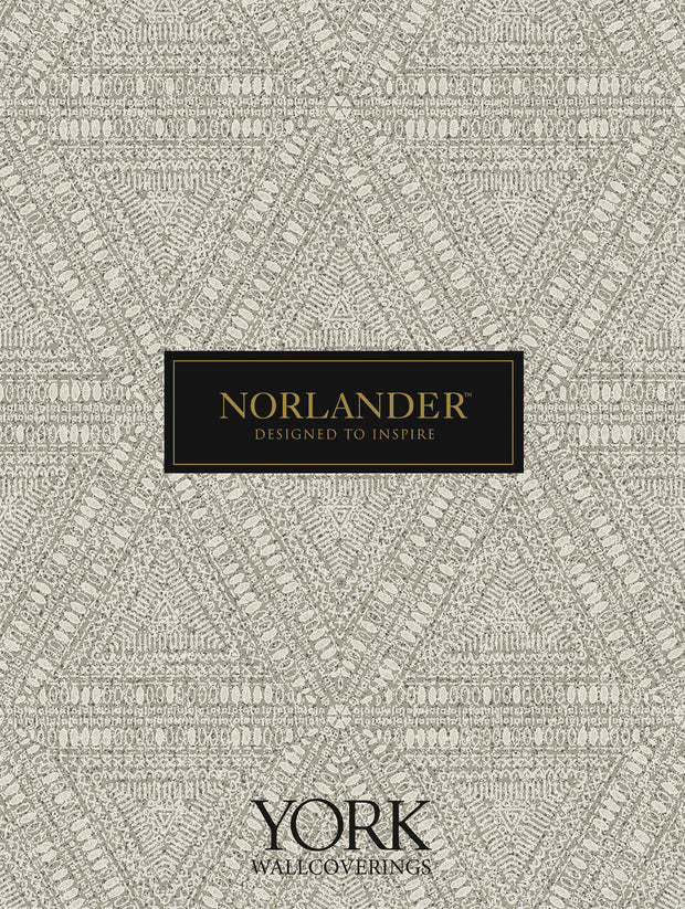Norlander Norse Tribal Wallpaper - Gray