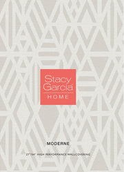 Stacy Garcia Moderne Randing Weave Wallpaper - Dark Gray