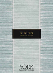 French Linen Stripe Wallpaper - Blue