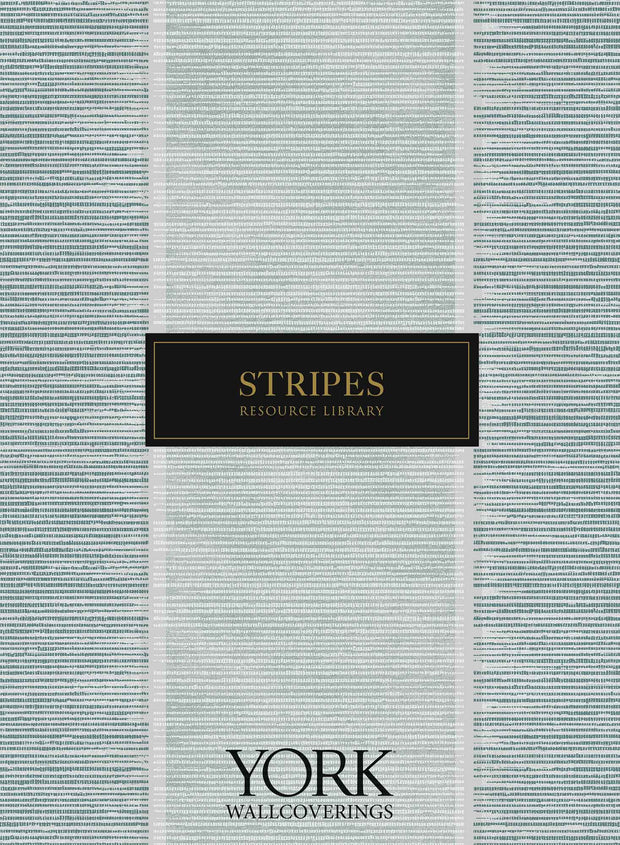Stately Stripe Wallpaper - Blue Pearl/White