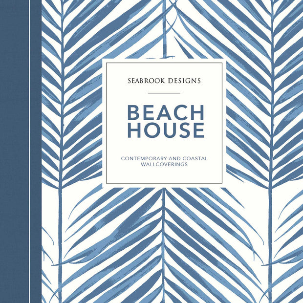 Beach House Nautical Damask Wallpaper - Coastal Blue