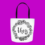 Floral They Tote Bag