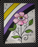 Nonbinary Flower Painting