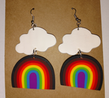 Rainbow Cloud Earrings