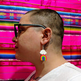 Mini Neon Rainbow Earrings