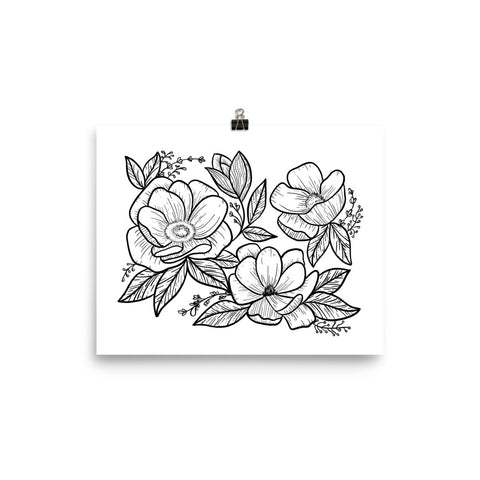 Flower Illustration Art Print