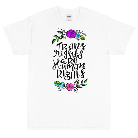 Floral Trans Rights Are Human Rights T-Shirt