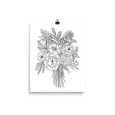 Floral Bouquet Art Print