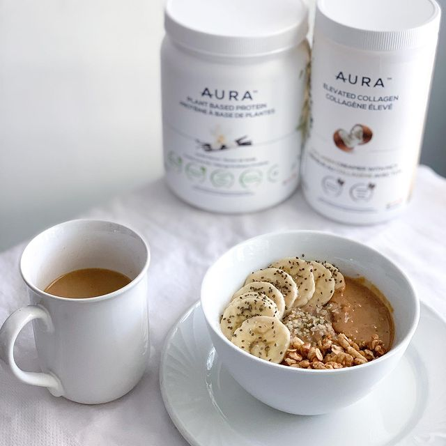 Salted Caramel Banana Oats & Elevated Coffee Recipe AURA Nutrition
