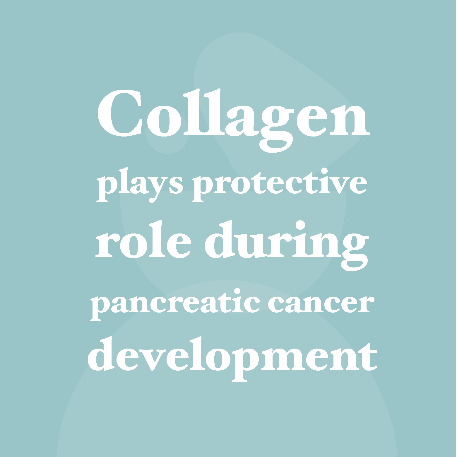 Collagen plays protective role during pancreatic cancer development